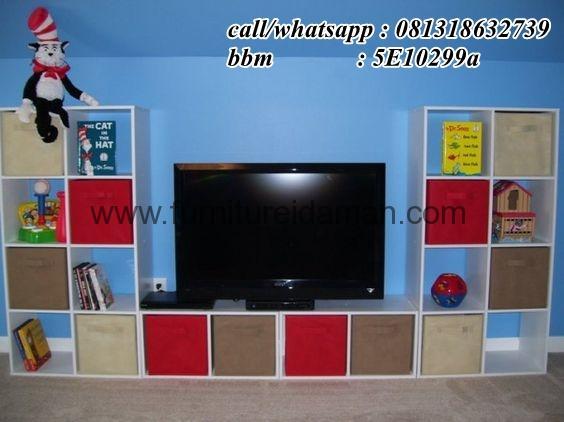 Buffet TV Jati Minimalis Unik Terbaru