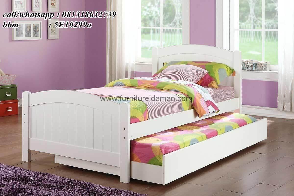 Tempat Tidur Anak Minimalis Sorong Duco SKA-3 - Furniture Idaman
