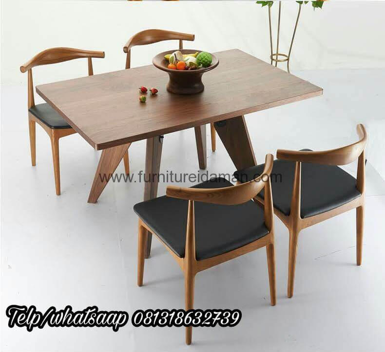 Set Kursi Cafe Resto Kayu Jati Murah Kci 102 Furniture Idaman