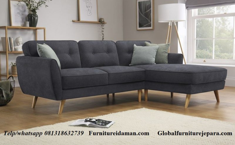 Jual Sofa Sudut L Minimalis KSI-110 - Furniture Idaman