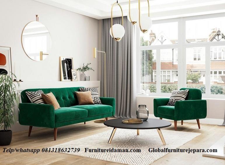 Sofa Tamu Retro Minimalis Terbaru Ksi 103 Furniture Idaman