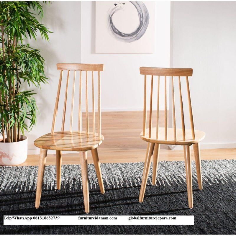 Kursi Makan Cafe Jati Solid Kci 308 Furniture Idaman